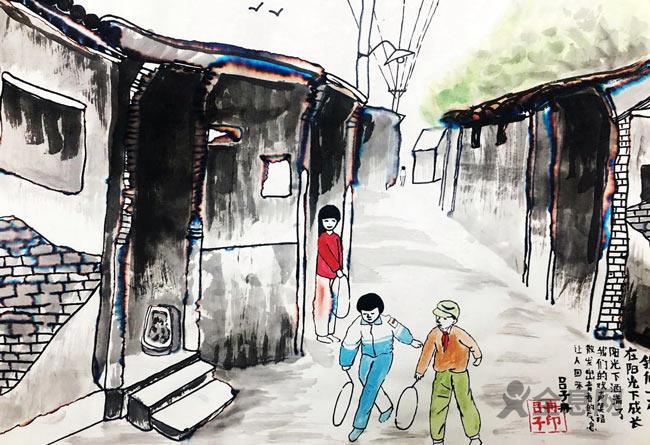 儿童画赏析:老街坊、小弄堂,把最美好的记忆与你分享!
