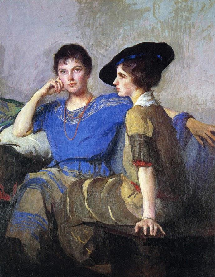 美国印象派最重要的画家之一——埃德蒙人物油画作品欣赏