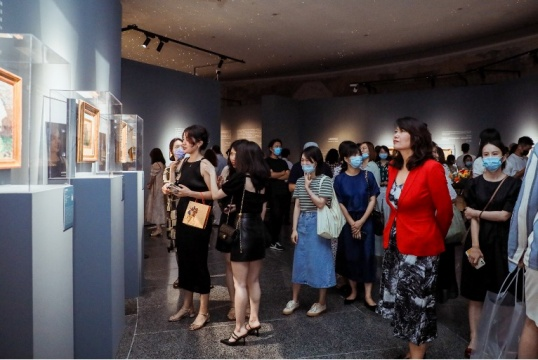 「从库尔贝、柯罗到印象派——来自法国诺曼底的光影世界·真迹展」在中华世纪坛开幕
